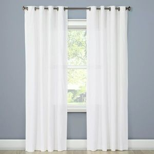 "Threshold Solid White 42""x84"" Curtain Panels"